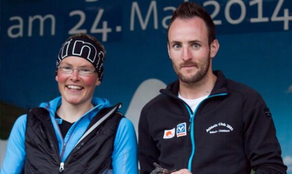 Die Tagessieger Irmgard Huber und Daniel Hackhofer waren die Tagessieger beim Römerlauf in Dölsach. Foto: Stefan Tschapeller