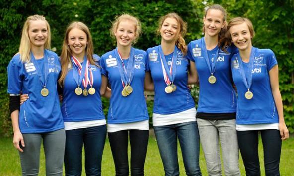 Die erfolgreichen Athletinnen v.l.: Sofie Abl, Sophie Oberhammer, Tanja Oberegger, Lea Amort, Ruth Hölzl, Marie Oberhammer. Foto: RC Figaro Lienz