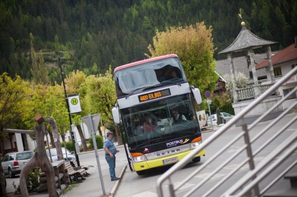 """Im Osttiroler Pustertal kann man zusteigen, doch """"im Ausland"""" bleiben die Türen zu. Fotos: Dolomitenstadt/Egger"""