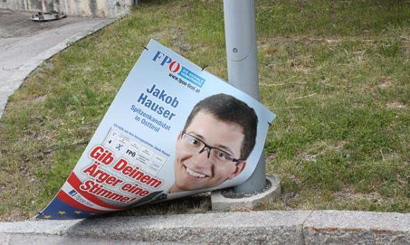 Die ÖVP verschickt FPÖ-Plakate an die Medien – eine interessante Wahlkampftaktik. Foto: VP-Lienz