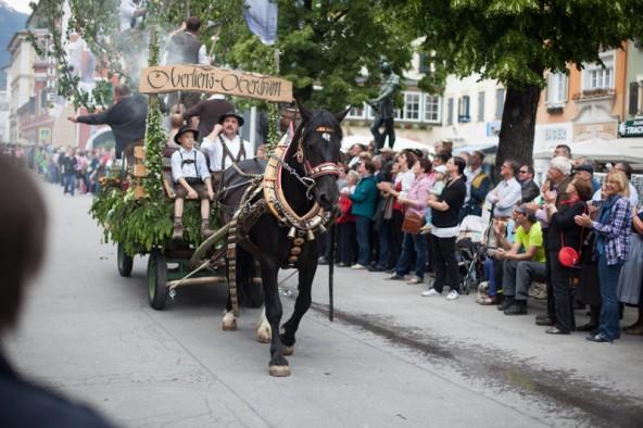 Pferde aus Osttirol und Oberkärnten zogen die geschmückten Wägen. Fotos: Michael B. Egger