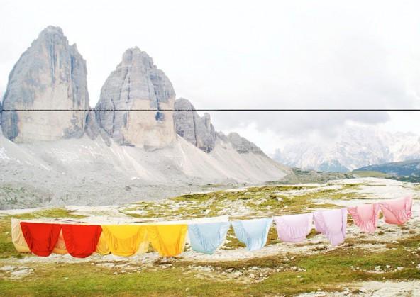 Action Paintin in the Dolomites. Sissa Micheli.