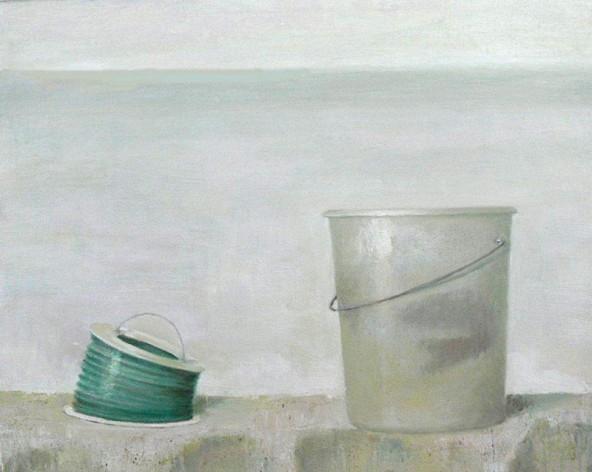 Dünnes Meer. 2008, Uta Reinhard -  80 x 100 cm, Öl auf Leinwand.