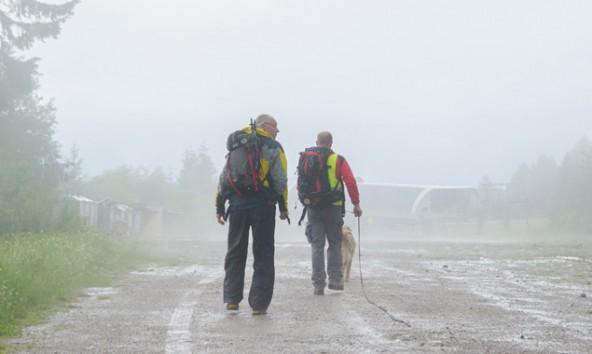Schlechtwetter behinderte die Suche. Fotos: Brunner Images