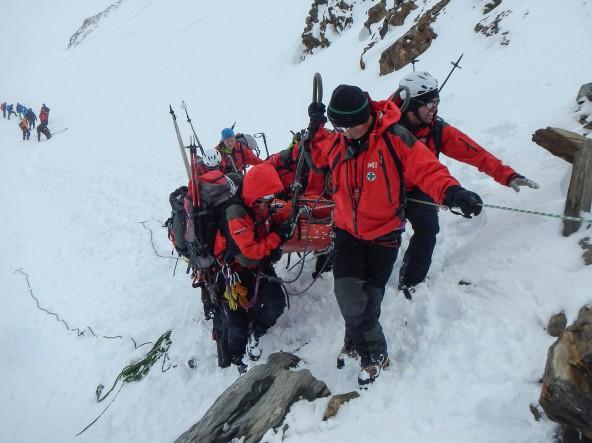 AUT, AU, Sturz in Gletscherspalte am Grossvenediger