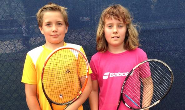 Paul Moritz und Jessica Zraunig sind Kärntner Meister im Tennis.