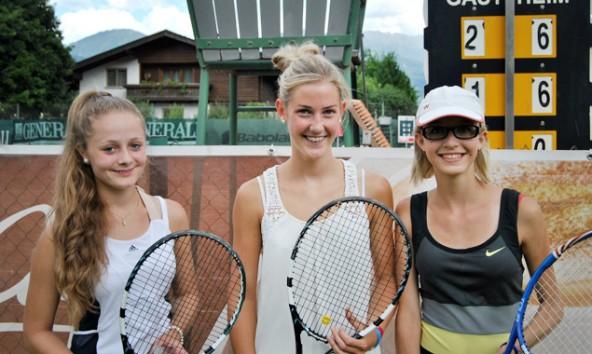 Eva Possegger, Sara Tiefenbacher und Anja Eder wurden Kärntner Vizemeisterinnen in der Klasse U17.