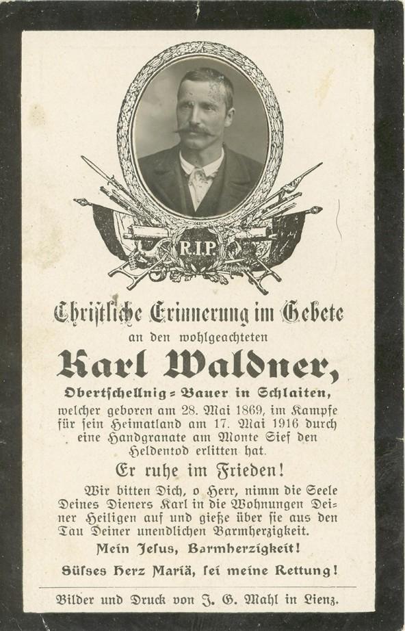 Waldner Karl vlg. Obertschellnig