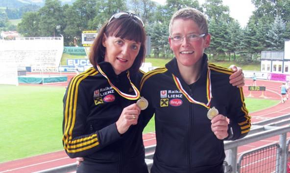 Elisabeth Bürgel und Irmgard Huber holten  Silber und Gold bei den Staatsmeisterschaften der Masters in Wolfsberg.