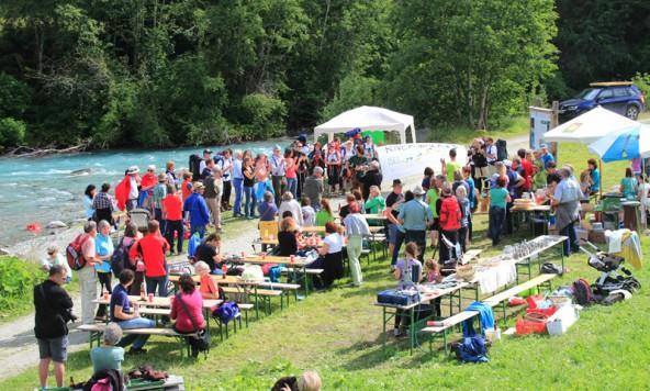 Auf einer Wellenlänge: Die Teilnehmer am Iselfest in Prägraten. Foto: Ian Trafford