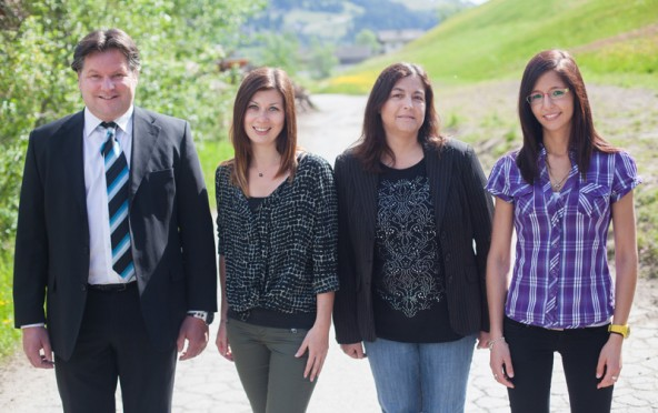 Das Fürhapter-Team in Sillian. Von links: Martin Fürhapter, Janine Obererlacher, Bettina Hantinger und Verena Lusser.