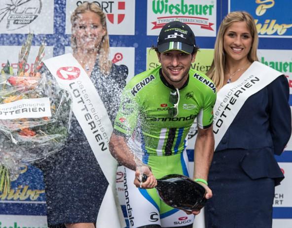 Keiner fuhr schneller vom Kitzbüheler Horn bis nach Matrei: Oscar Gatto gewann die 4. Etappe der Österreich-Rundfahrt. Fotos: Expa/Groder