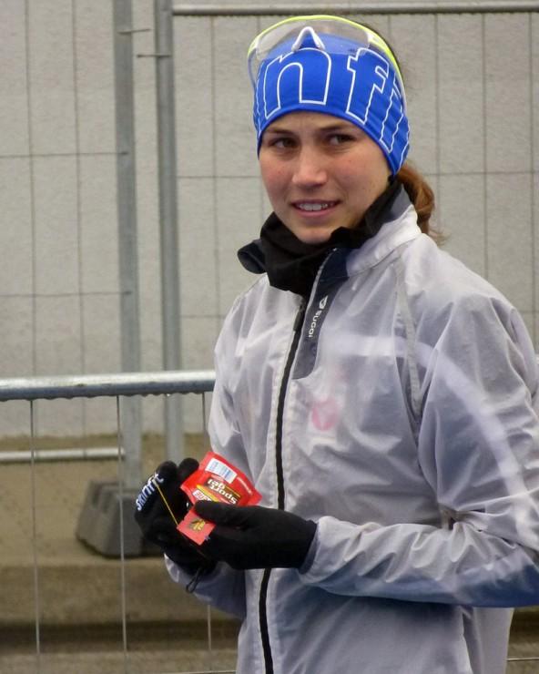 Vorn dabei beim Europacup in Riga: Theresa Moser.