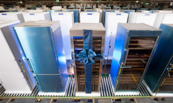 Seit der Eröffnung im Jahr 1980 fertigte Liebherr Hausgeräte Lienz insgesamt 15 Millionen Kühlgeräte. Foto: Martin Lugger