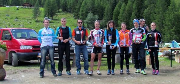 Gruppenbild der Klassensieger. Von links: RCH-Präsident Franz Rainer, Ingemar Wibmer, Martin Schneider, Andreas Fuchs, Tanja Lakata, Nicole Baumgartner, Simon Schupfer und Theresa Moser.