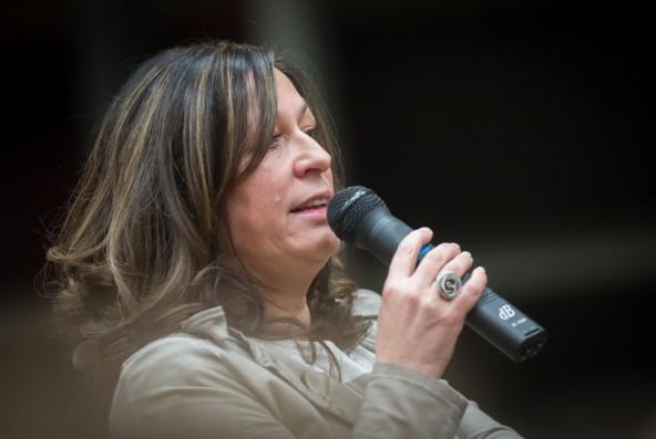 Sie vertrat den großen Abwesenden des Abends, Andreas Köll: Die Matreier Vizebürgermeisterin Elisabeth Mattersberger.