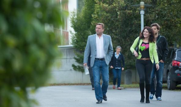 Landesrätin Ingrid Felipe wurde von Bürgermeister Heinrich Ginther aus der Natura-2000-Anrainergemeinde Elmen begleitet.
