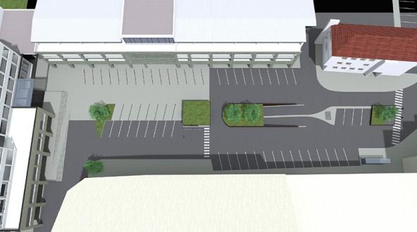 Die neue Lösung für Aus- und Einfahrt in die Tiefgarage Südtirolerplatz überzeugte den Stadtrat. Visualisierungen: Innovate
