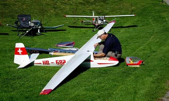 """Einer der größten Segler die """"Ka 8B"""" mit einer Spannweite von 6,40 m.  Foto: Markus Kozubowski"""