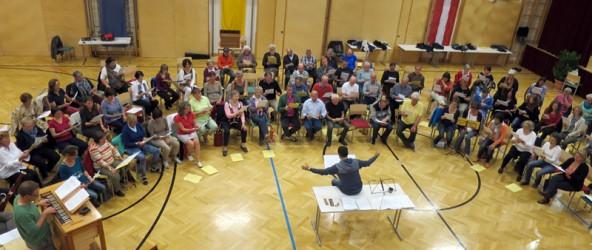 """Das Seminar """"Cantare et sonare"""" in Virgen war nicht nur musikalisch ein besonderes Erlebnis für die Teilnehmer."""