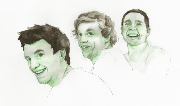 Von links nach rechts: Jakob Riedl, Clemens Greil, Markus Stocker