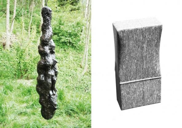 Alfons Planer, Transversive TaA1, ca. 160 cm, 2013-2014 | Georg Planer, Skulptur, Gneis 40x20x13cm
