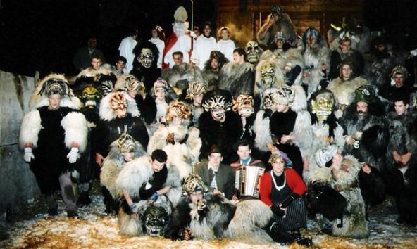 Vor 20 Jahren gegründet – der Hinterbergler Krampusverein in Ainet.