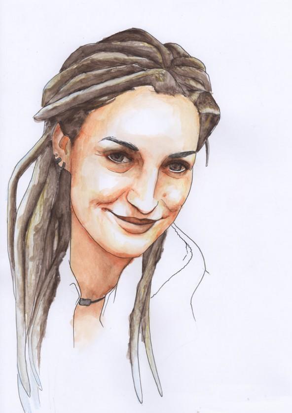 Julia Begher, porträtiert von Linda Steiner.
