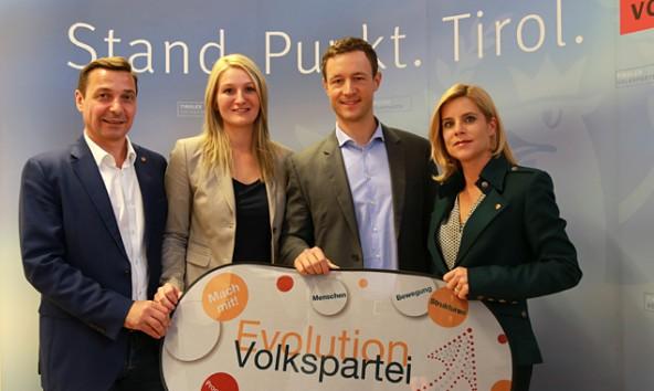 Von links: Martin Malaun, Kathrin Kaltenhauser, Gernot Blümel und Silke Steiner. Foto: VP Tirol