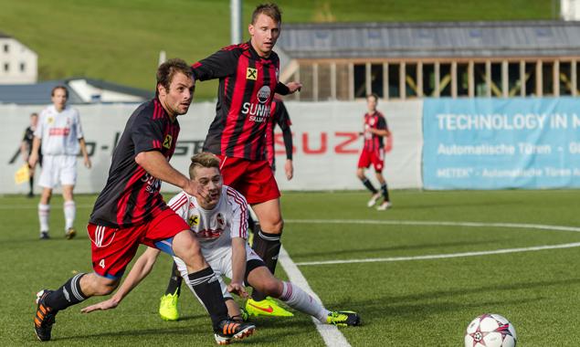 Der FC Sillian festigte mit dem 3:1 Sieg gegen Dölsach Platz 1. Foto: Brunner Images