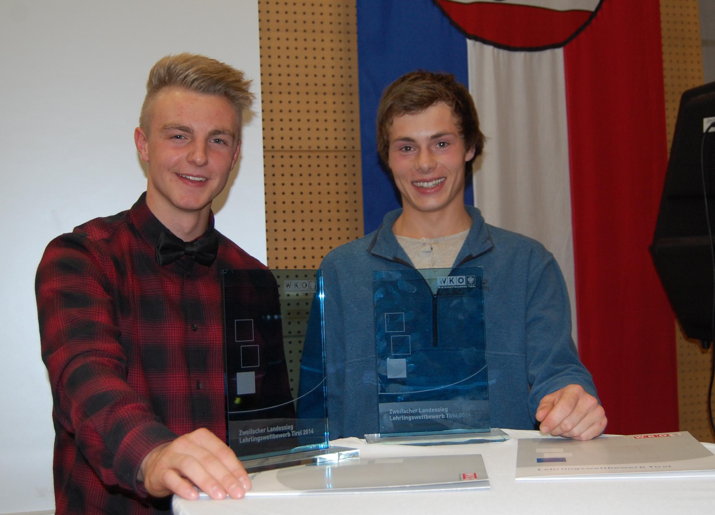2fache Landessieger v.l.n.r.: Michael Assmair und Julian Gruber