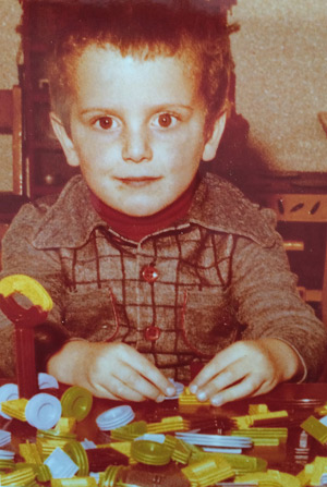 Kinderfoto Bernhard Aichner, Foto: Ursula Aichner, privat