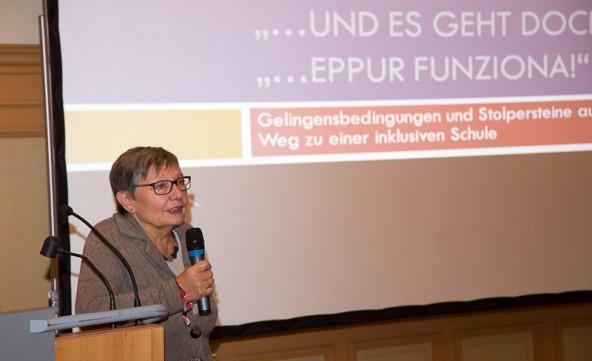 Edith Brugger-Paggi unterstrich, worauf es ankommt: auf die kleinen, engagierten Projekte.