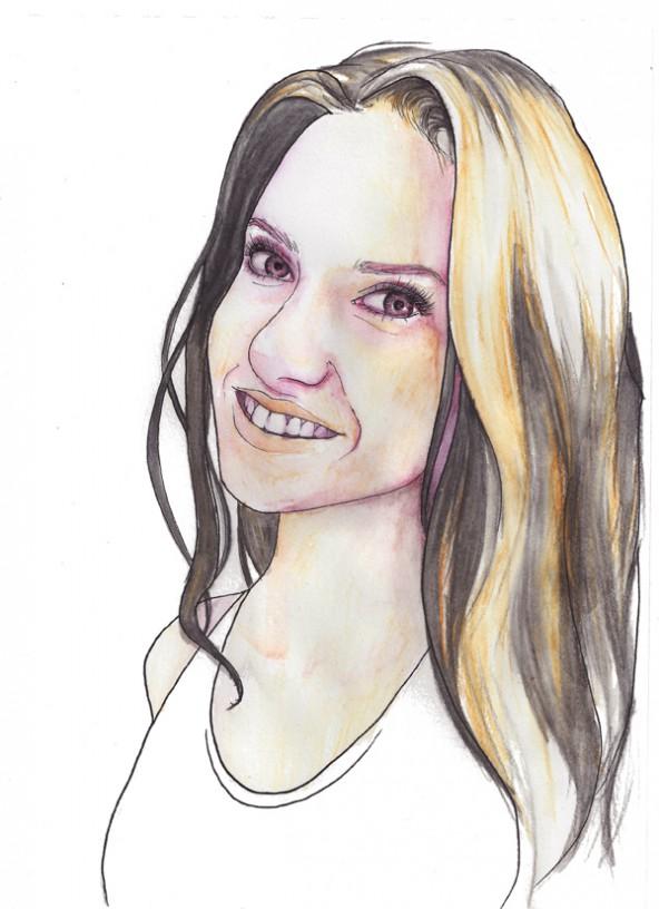 Eva-Maria Januschke, porträtiert von Linda Steiner.