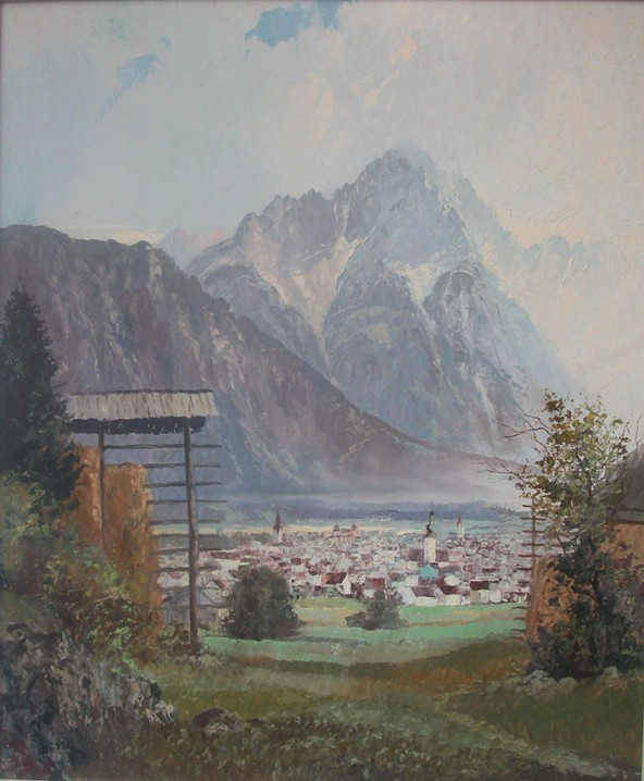 """Franz Wimmer """"Lienz mit Spitzkofel"""""""