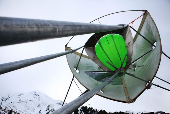 Auf diesem Bild gut zu sehen ist die innere (grün) und die schützende äußere Membran.