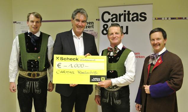 Peter Stehring, Gerhard Steinlechner, Caritas-Direktor Georg Schärmer, Hannes Mayr. (Foto: Eva Wilhelmer)