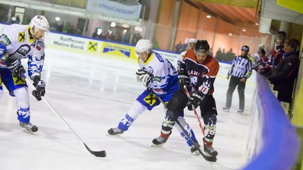 In der Anfangsphase war das Match zwischen Huben und Toblach ausgeglichen. Foto: Brunner Images