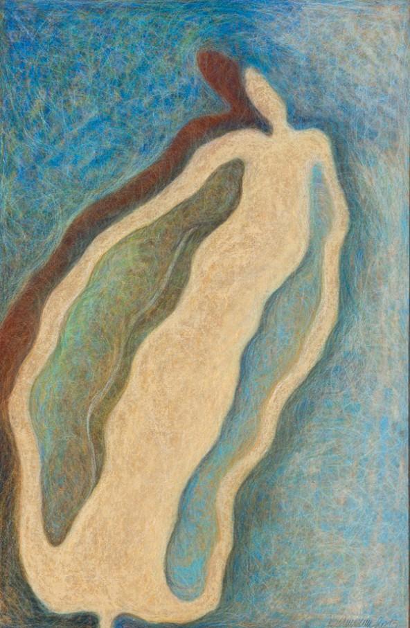 "Birgit Bachmann: ""Einsicht"", Öl auf Holz (Tafelbild), 120 cm x 80 cm"