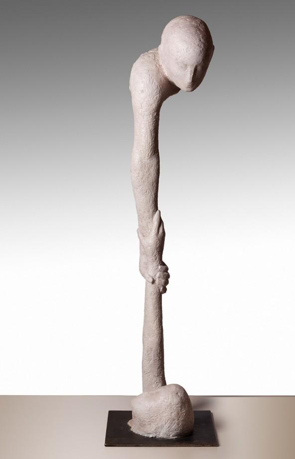 "Sebastian Rainer: ""Europa"", Terracotta mit Eisen armiert, 2013, H 115 cm"