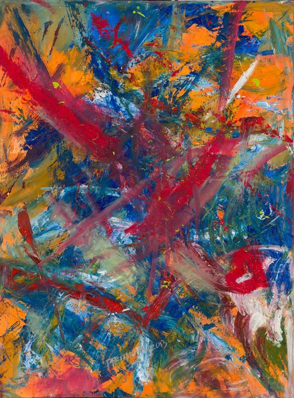"Ilse Pfeifhofer: ""underwater fun"", Acryl auf Leinwand, 80 cm x 60 cm"