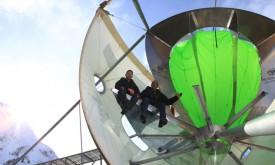 Pulverschnee aus der futuristischen Wolkenkammer