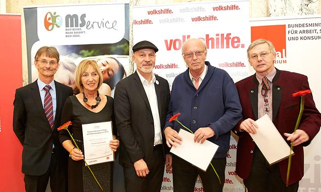 Manfred Pallinger (Sozialministerium), Christl Rennhofer-Moritz, Erich Fenninger (Bundesgeschäftsführer der Volkshilfe). Foto: Mike Ranz