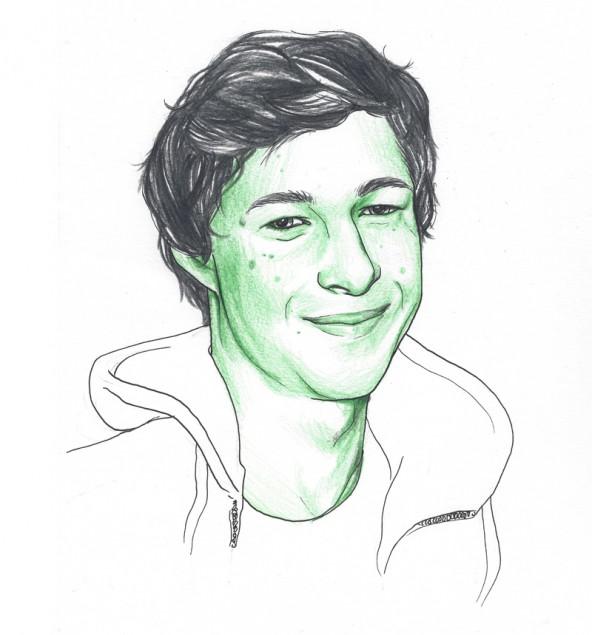 Andreas Schönfelder, porträtiert von Linda Steiner.