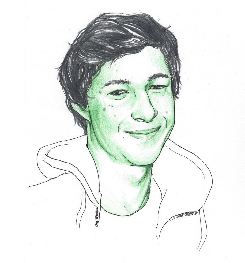 Andreas Schönfelder, porträtiert von Linda Steiner. - andi-schoenfelder-large