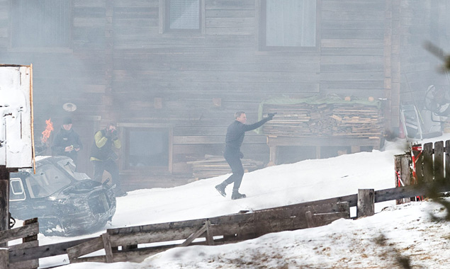 James Bond in Aktion in Obertilliach. Foto: EXPA/Johann Groder