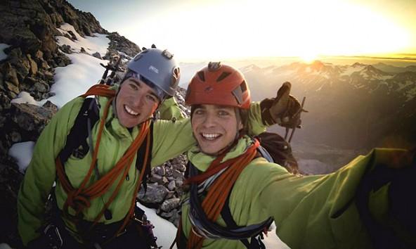 Clemens Tschurtschenthaler (links) und Simon Kraler bei ihrer Lieblingsbeschäftigung: Bergsteigen.