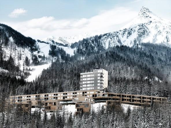 """Gradonna Mountain Resort, Kals am Großglockner: """"Zeitgemäße Interpretation alpiner Architektur ohne Klischees und Versatzstücke"""" (Foto: Günther Egger)"""