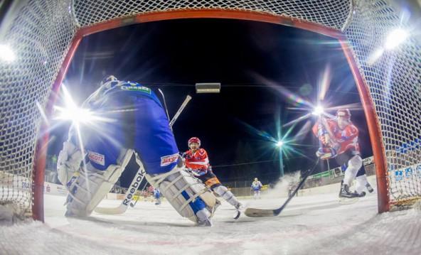 Vor allem in den ersten beiden Dritteln hielten die Dolomitenstädter mit Favorit Huben mit. Fotos: Brunner Images