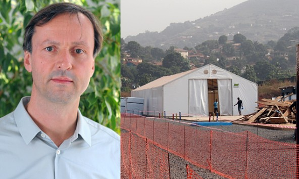 Marcus Bachmann leitet ein Ebola-Zentrum der Ärzte ohne Grenzen in Sierra Leone. Fotos:
